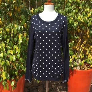 Tommy Hilfiger Polka Dot &. Striped Sleeves Swtr